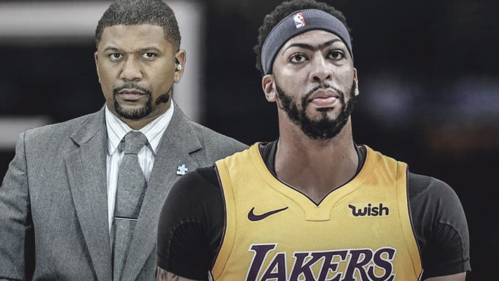 Jalen Rose and Anthony Davis Lakers