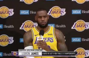 LeBron James Lakers Media Day