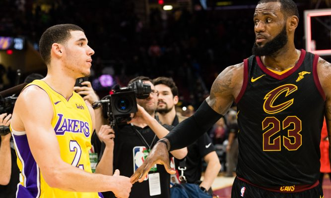 Lonzo Ball and LeBron James Lakers