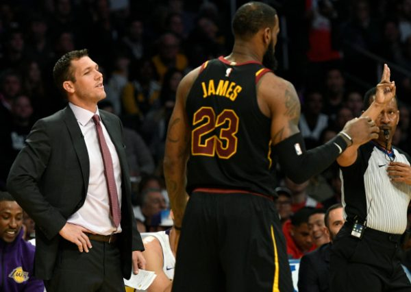 Luke Walton and LeBron James