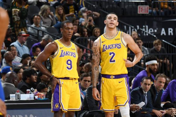 Rajon Rondo and Lonzo Ball