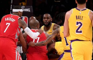 Rockets and Lakers Brawl