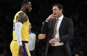 LeBron James and Luke Walton