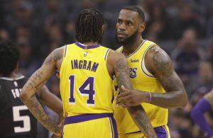Brandon Ingram and LeBron James Lakers