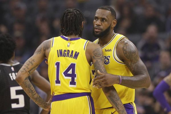 Brandon Ingram and LeBron James Lakers