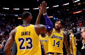 LeBron James and Brandon Ingram Lakers