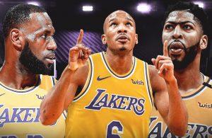 LeBron James, Avery Bradley, and Anthony Davis