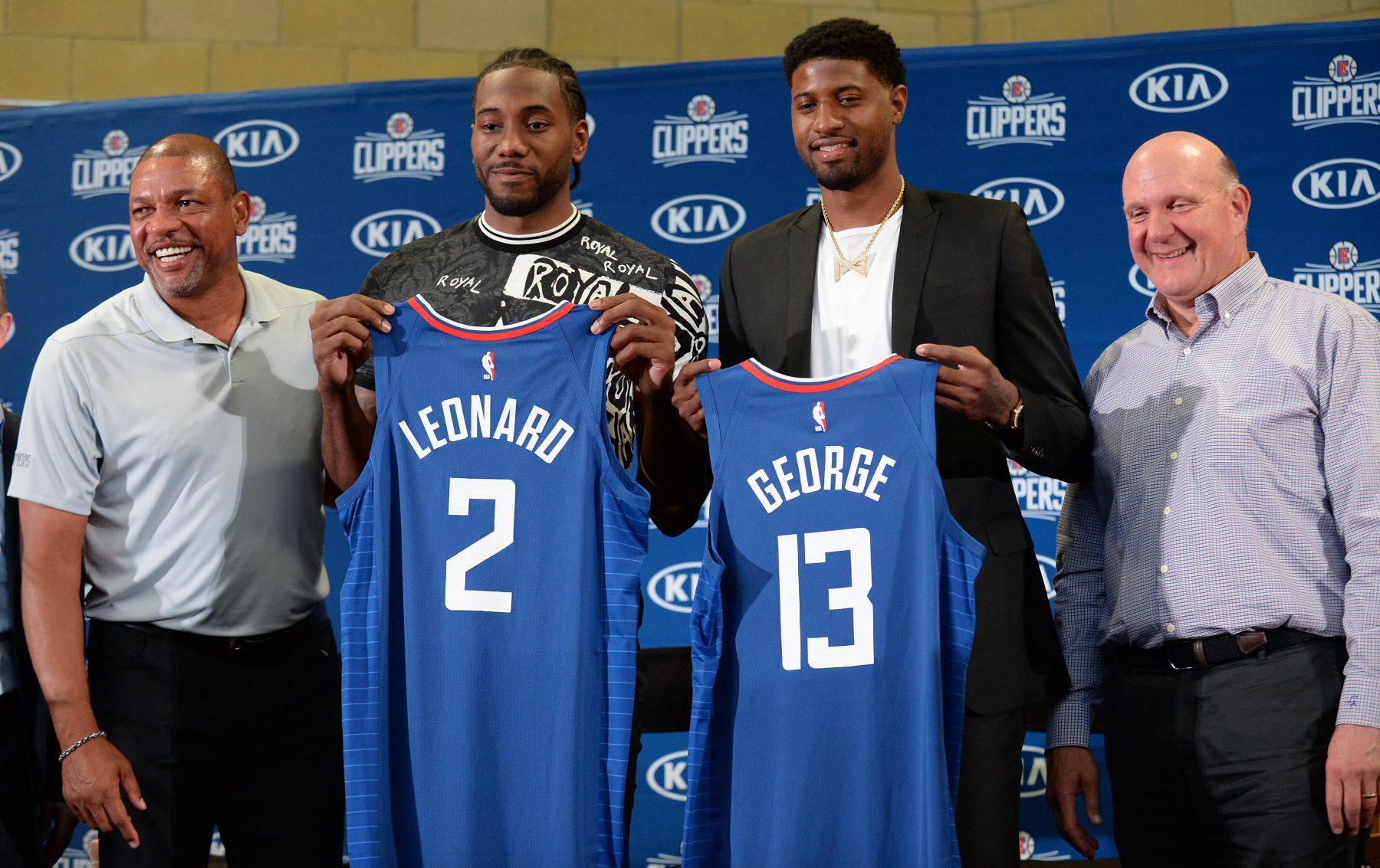 Kawhi Leonard and Paul George Clippers