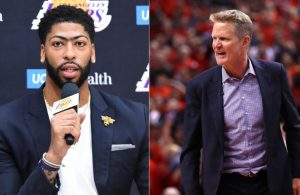 Anthony Davis and Steve Kerr