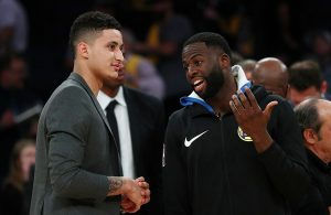 Kyle Kuzma and Draymond Green Lakers