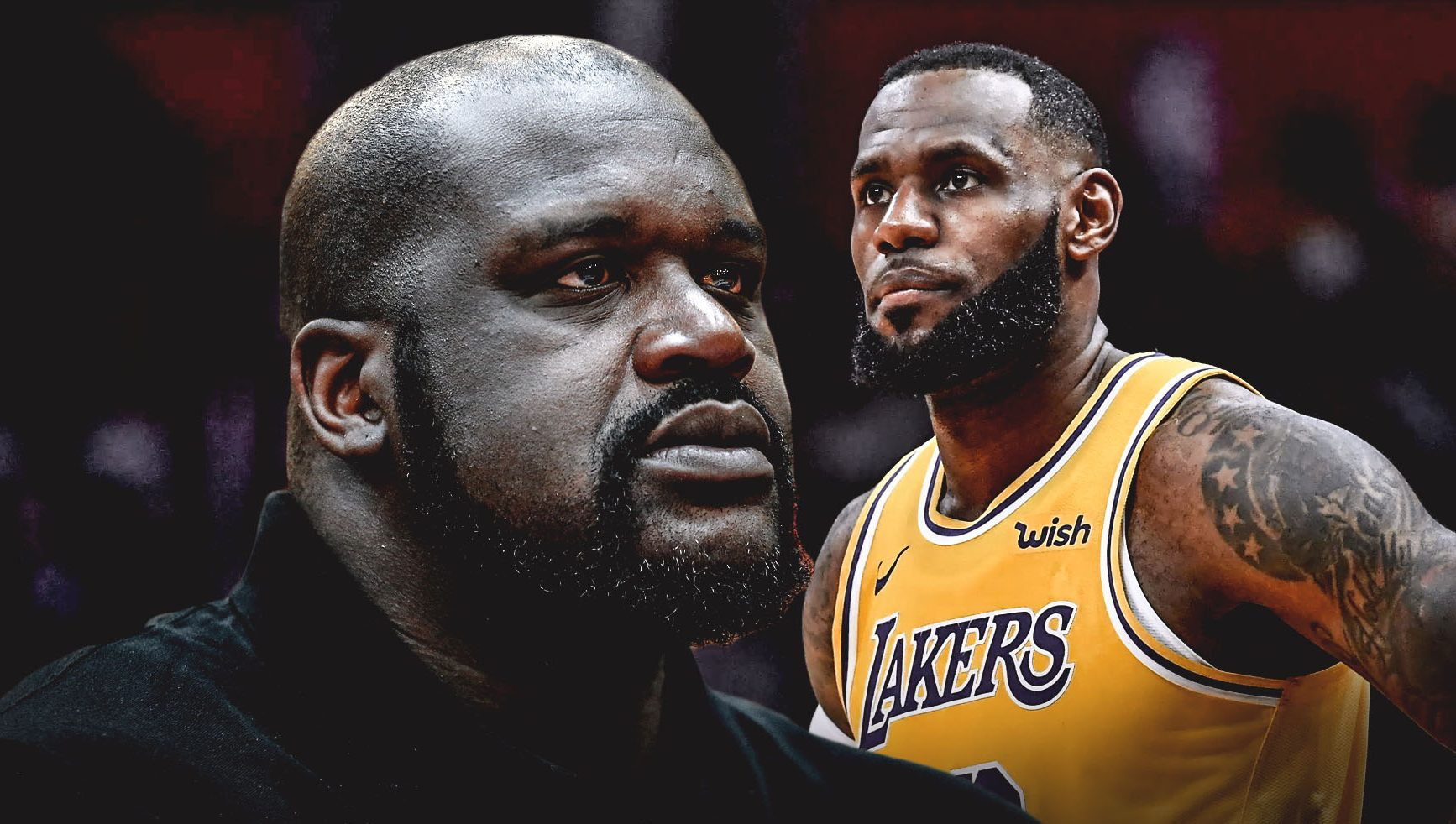 Shaquille O'Neal and LeBron James