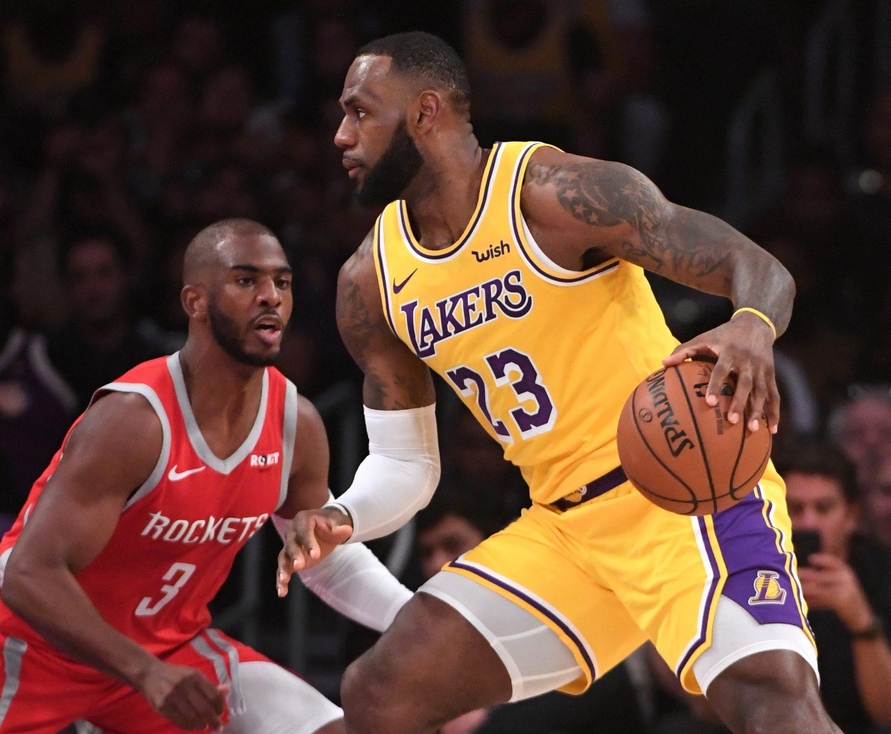 Chris Paul and LeBron James