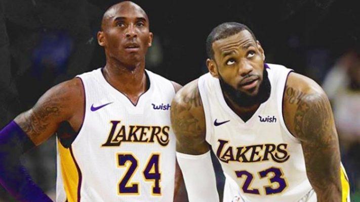 Kobe Bryant and LeBron James Lakers