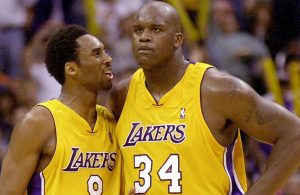 Kobe Bryant and Shaquille O'Neal Lakers