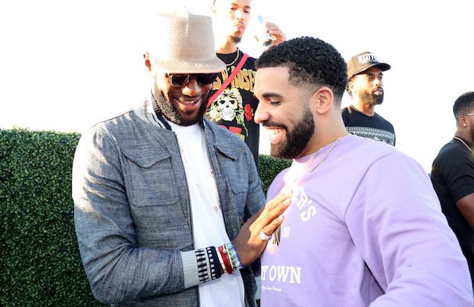 LeBron James and Drake