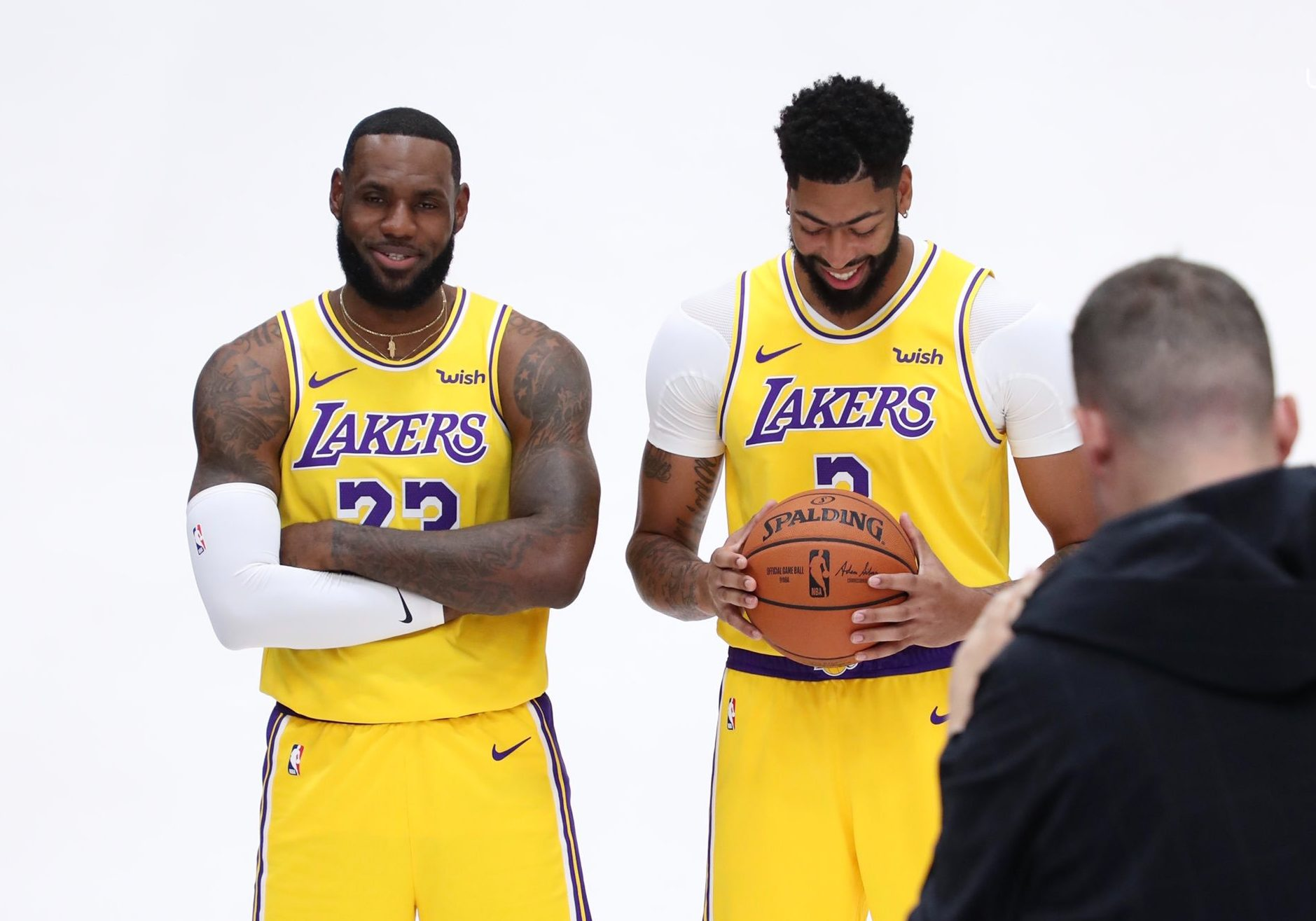 LeBron James and Anthony Davis Lakers