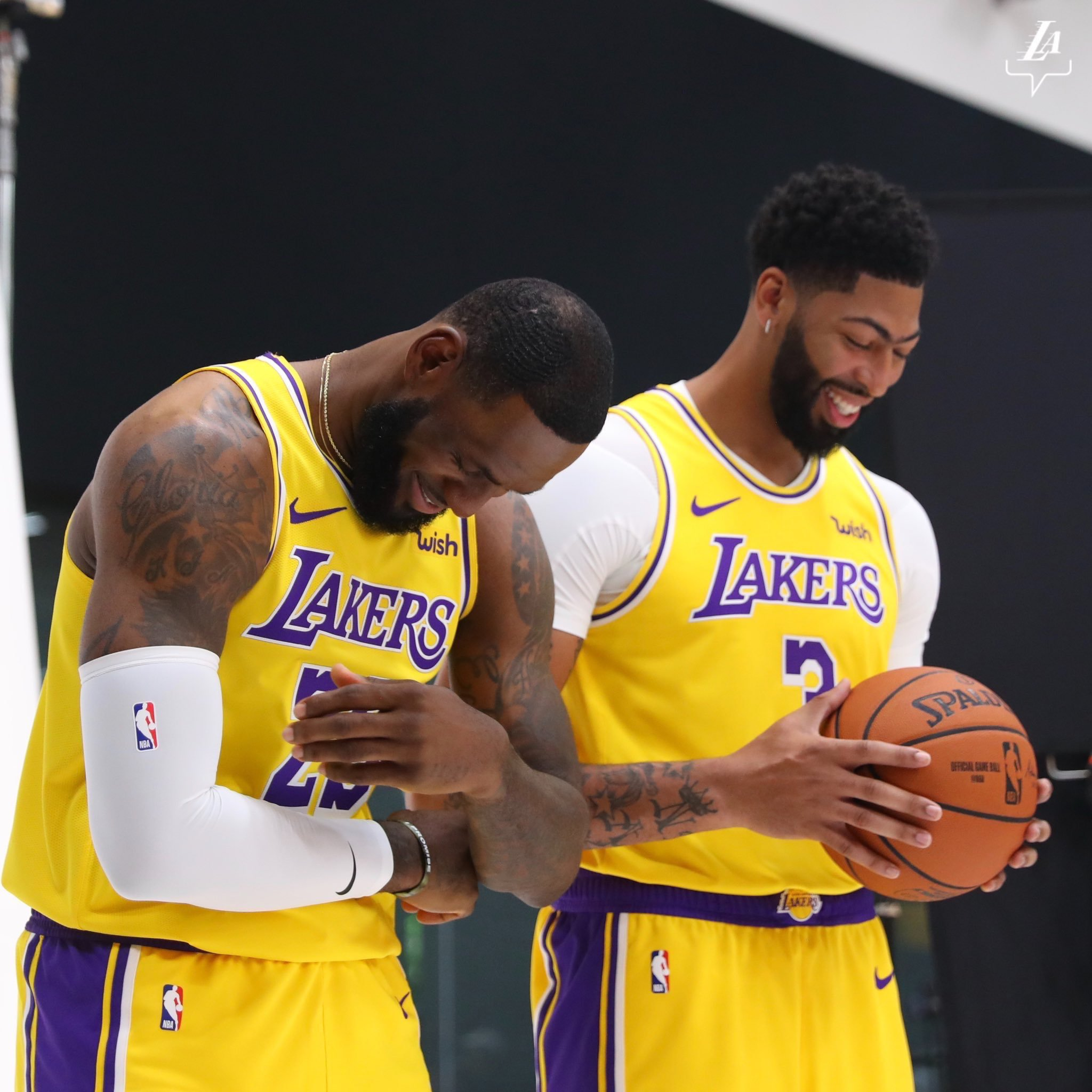 LeBron James and Anthony Davis Lakers