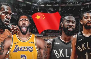 LeBron James, Anthony Davis and Kyrie Irving