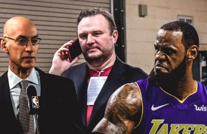 Adam Silver, Daryl Morey and LeBron James