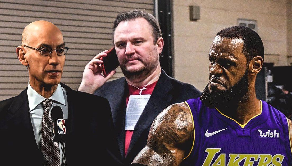 Adam Silver, Daryl Morey and LeBron James