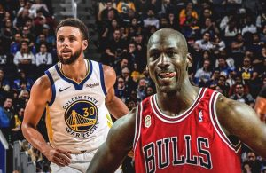 Stephen Curry and Michael Jordan