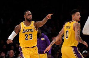 LeBron James and Kyle Kuzma