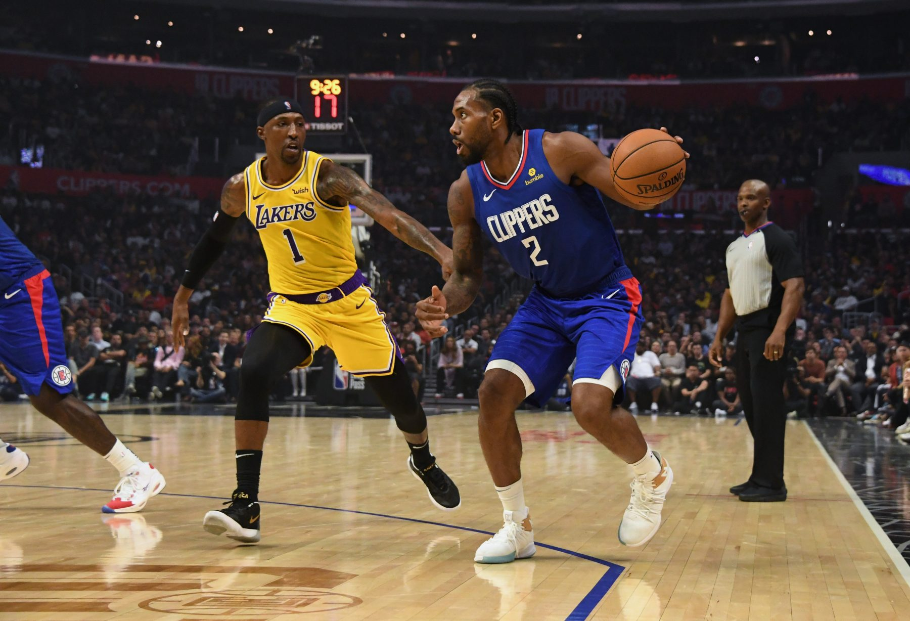 Kentavious Caldwell-Pope and Kawhi Leonard