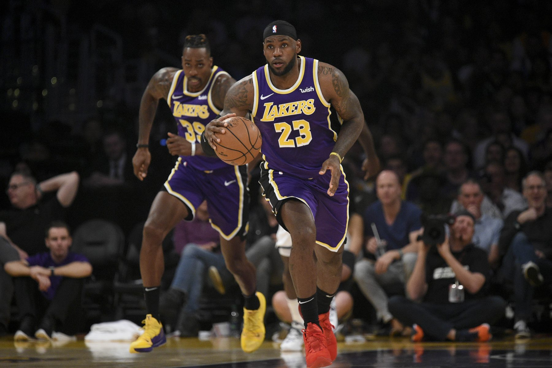 LeBron James and Dwight Howard Lakers