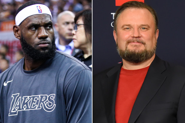 LeBron James and Daryl Morey