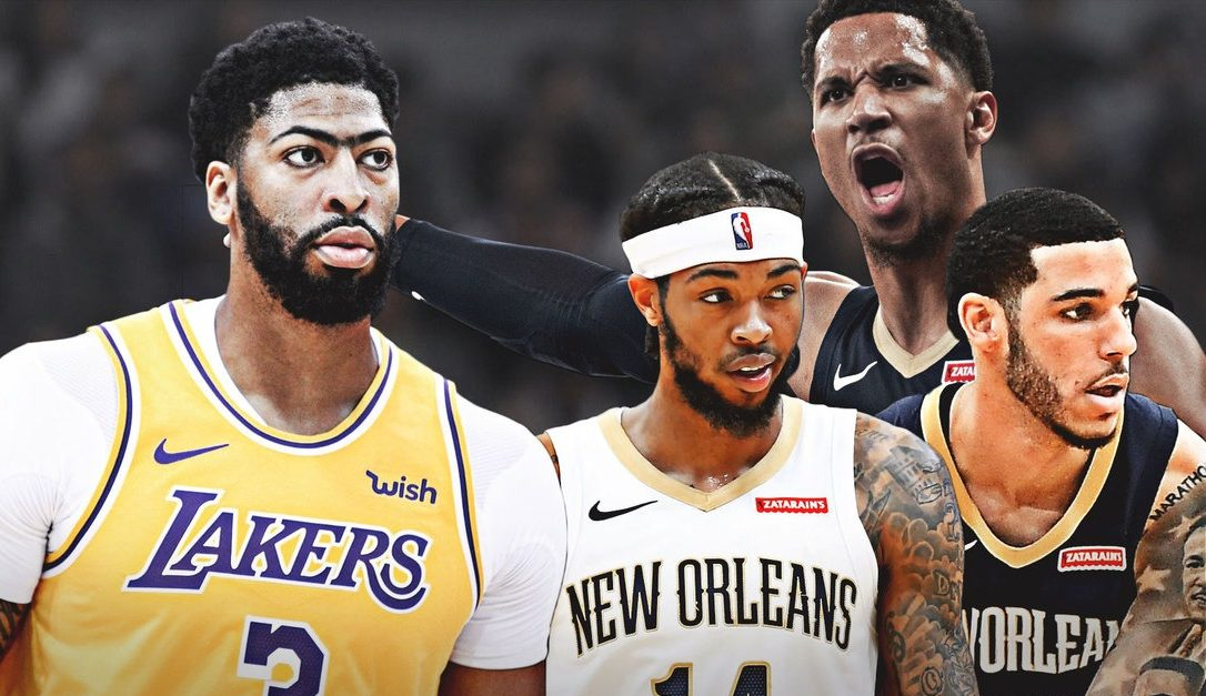 Anthony Davis, Brandon Ingram, Lonzo Ball and Josh Hart