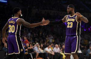 Troy Daniels and LeBron James