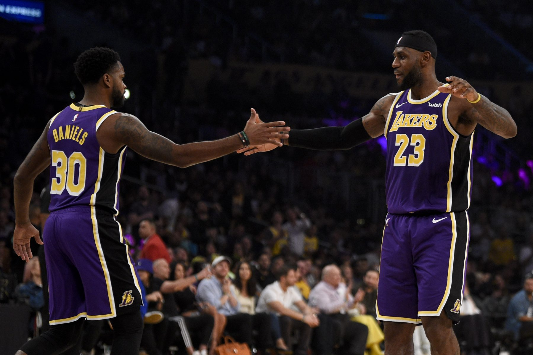 Troy Daniels and LeBron James