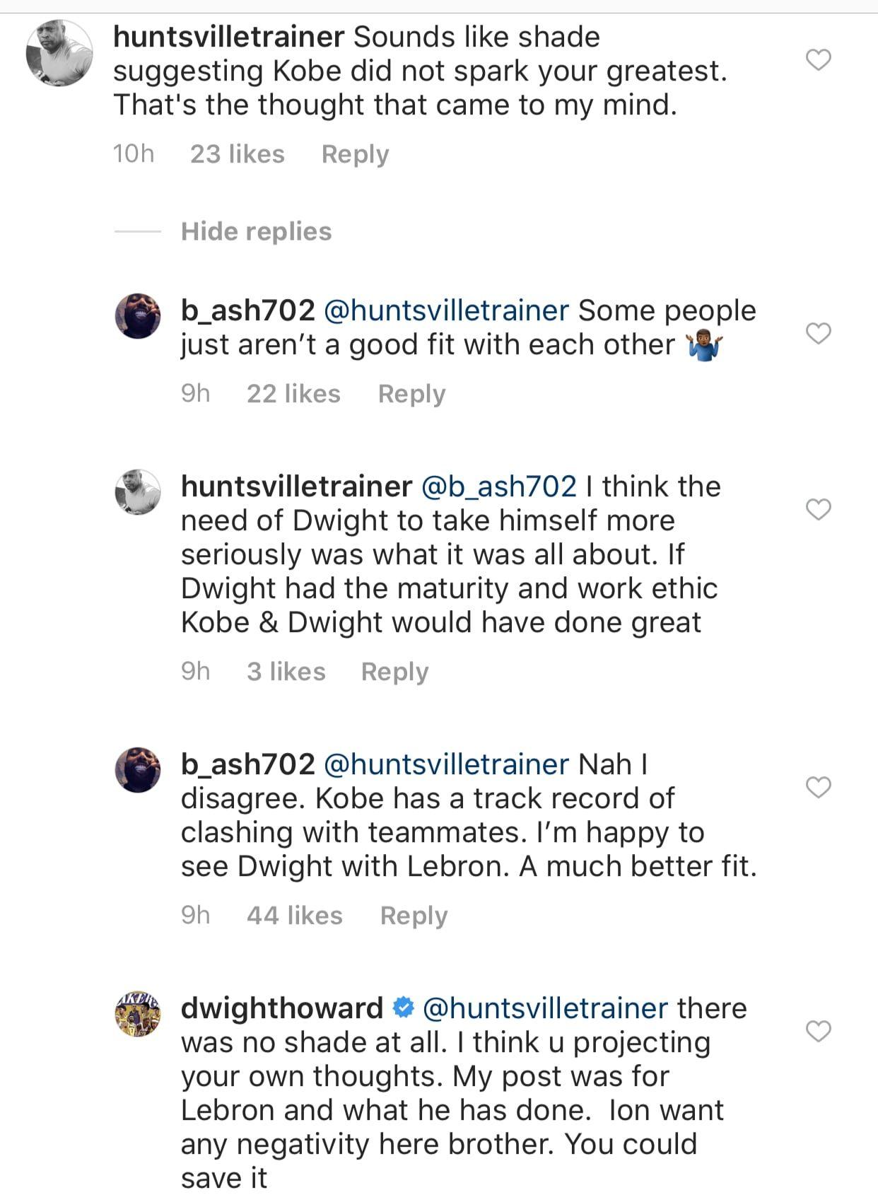 Dwight Howard, LeBron James and Kobe Bryant