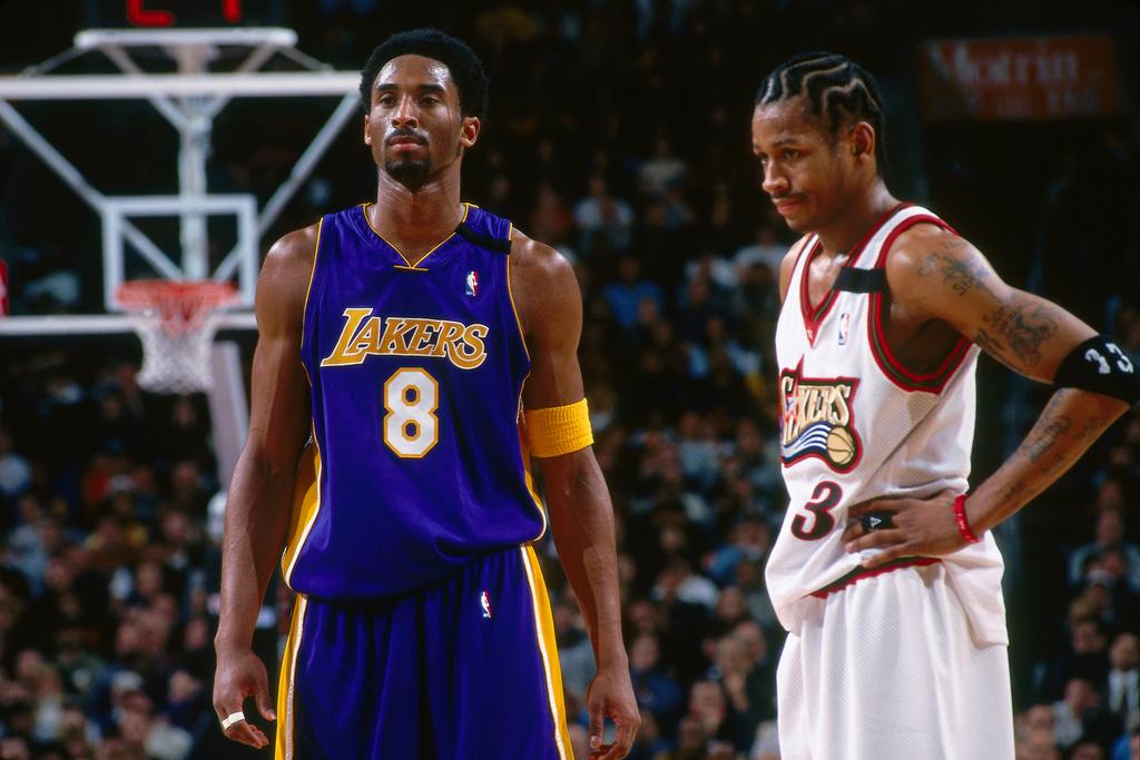 Allen Iverson and Kobe Bryant