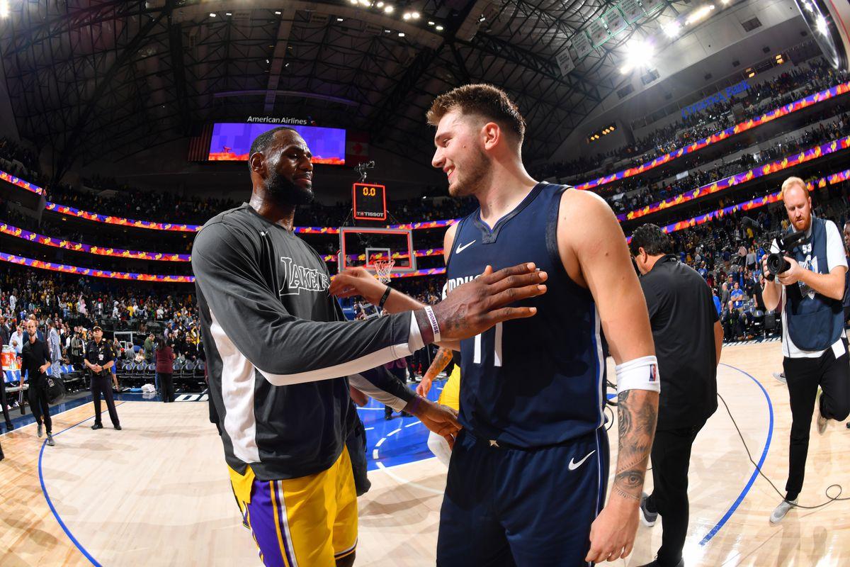 LeBron James and Luka Doncic