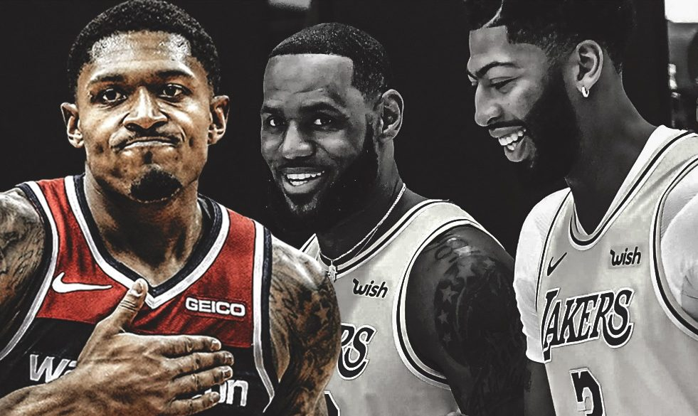 Bradley Beal, LeBron James and Anthony Davis