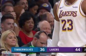 LeBron James Old Lady Fan