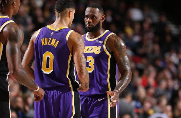 Kyle Kuzma and LeBron James