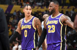 Kyle Kuzma and LeBron James