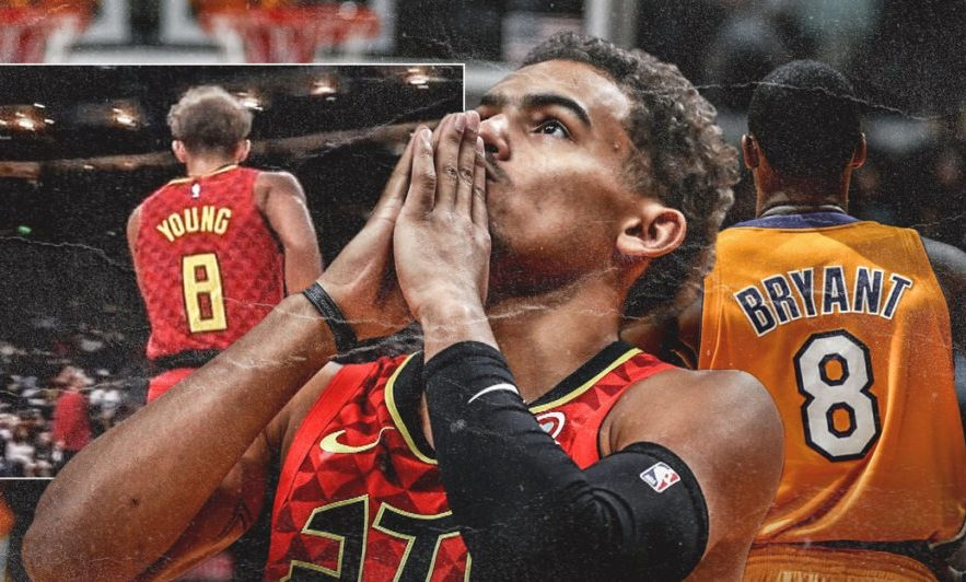 Trae Young and Kobe Bryant