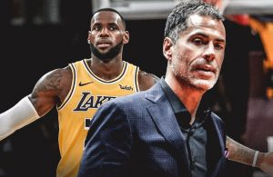 LeBron James and Rob Pelinka