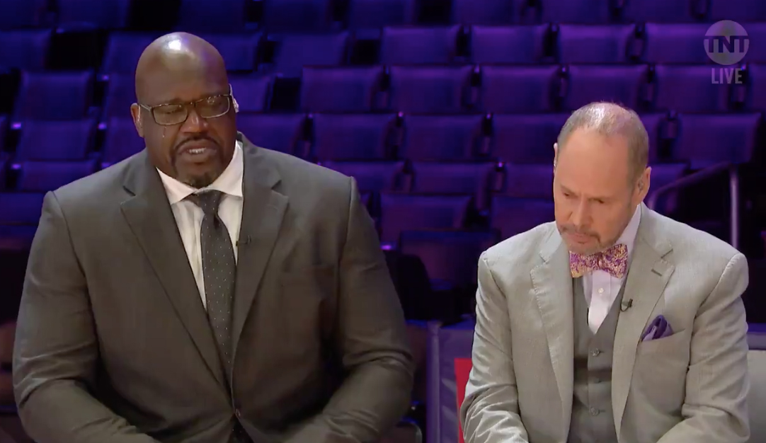 Shaquille O'Neal and Ernie Johnson