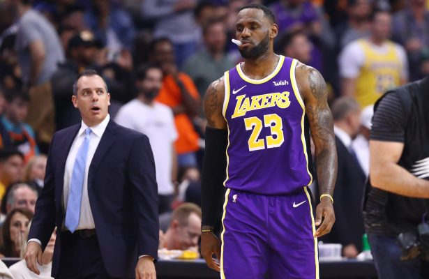 Frank Vogel and LeBron James