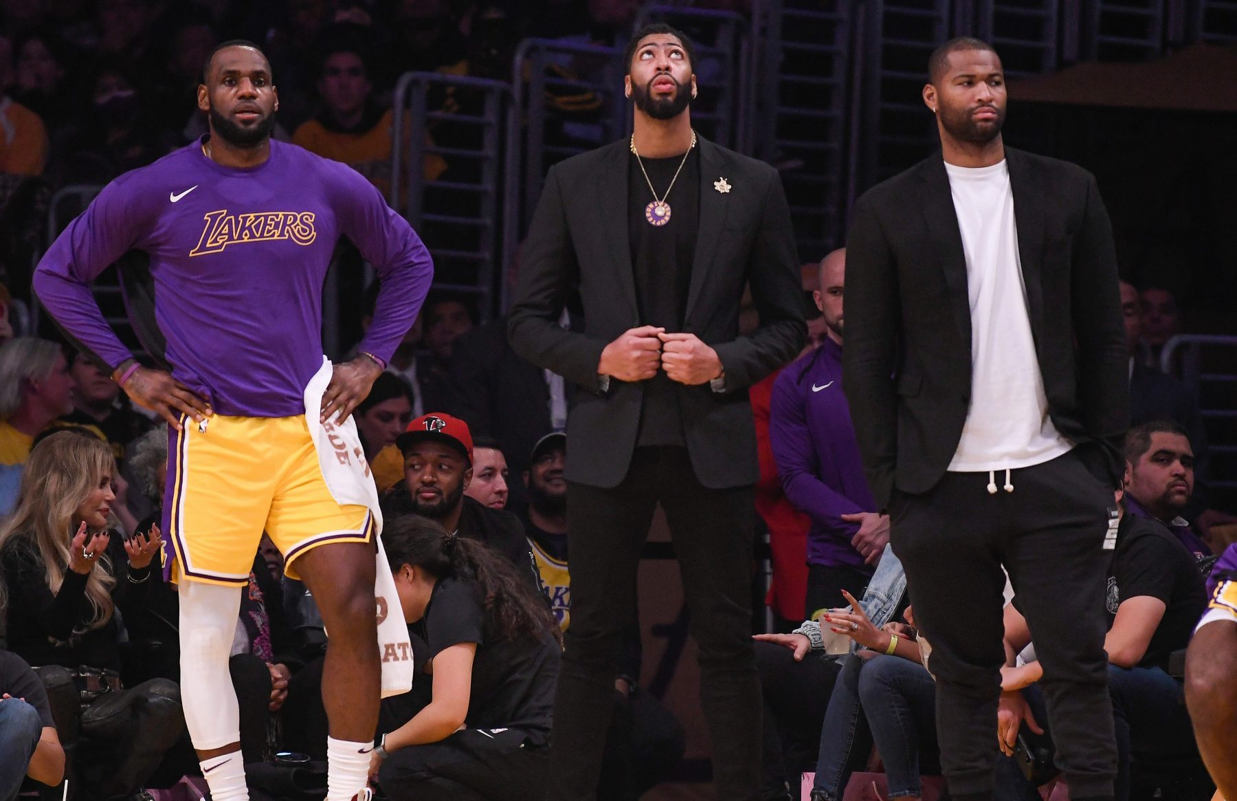 LeBron James, Anthony Davis and DeMarcus Cousins