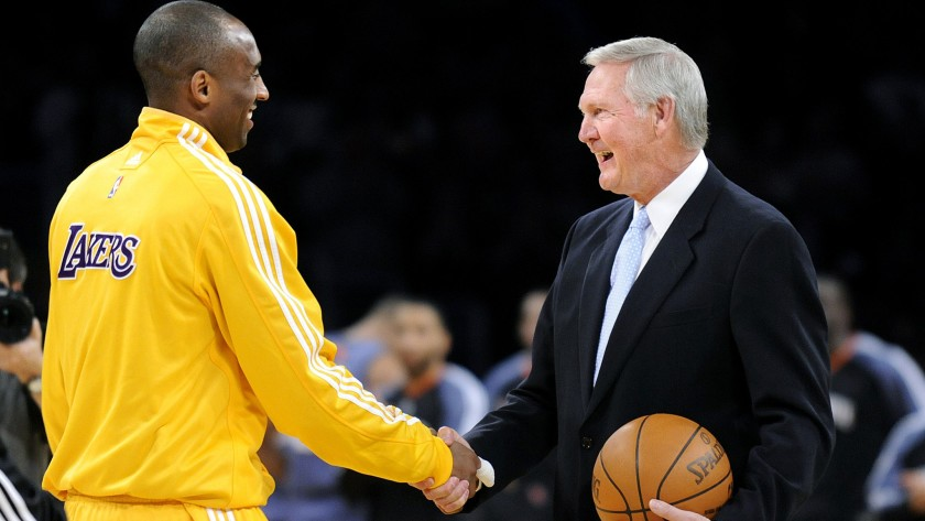 Kobe Bryant and Jerry West