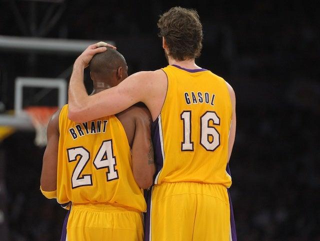 Kobe Bryant and Pau Gasol Lakers