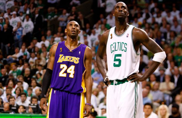 Kobe Bryant and Kevin Garnett