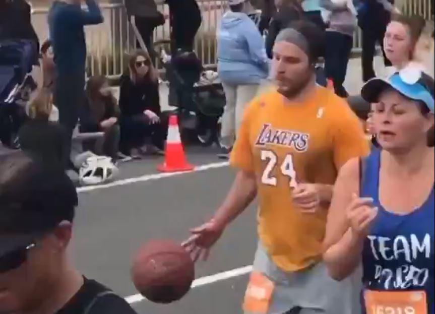 Man Dribbling Basketball Kobe Bryant Jersey