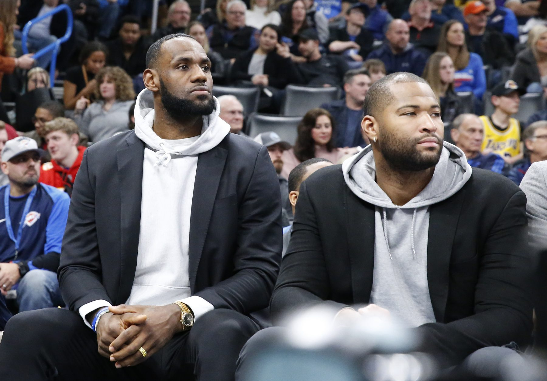 LeBron James and DeMarcus Cousins