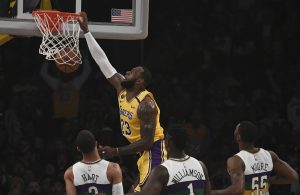 LeBron James Lakers Dunk